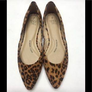 NEW Time and Tru Memory Foam Womens Leopard Flats